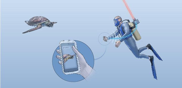 Pesca para WiFi subaquático